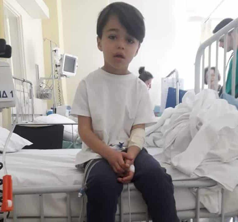 Syrian boy with brain tumour undergoes operation