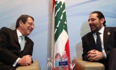President meets Lebanese PM in Egypt