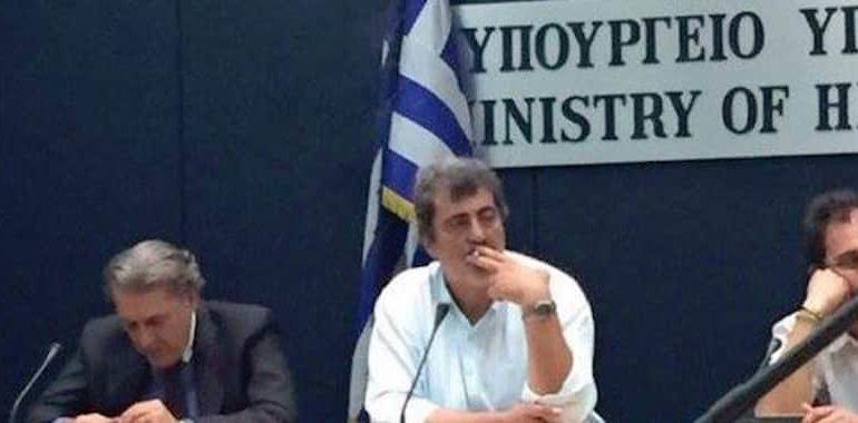 Greek minister caught smoking tells EU to butt out