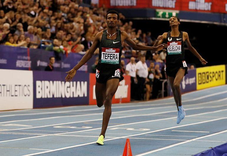 Ethiopia's Tefera breaks world indoor 1,500m record