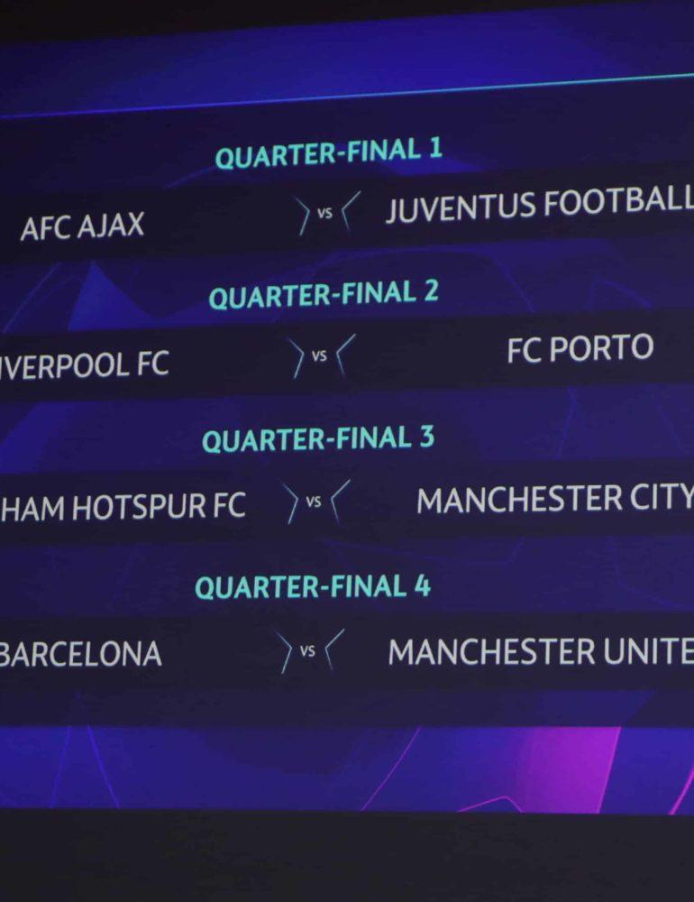 Man United draw Barca, City face Spurs