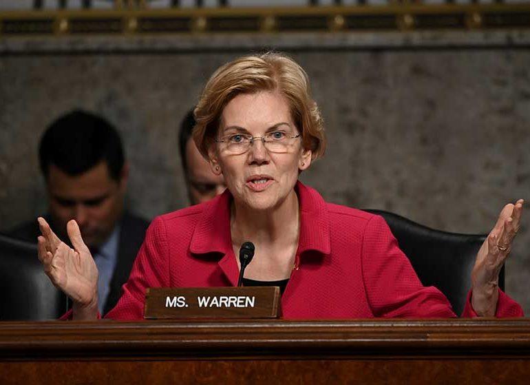 Wall St critic Warren vows to break up Amazon, Facebook, Google