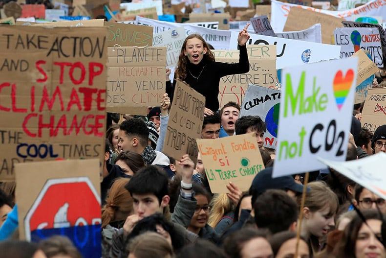 Children's climate strike spreads worldwide