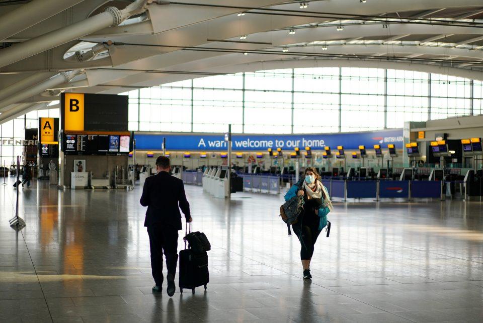 Heathrow records 97% drop in passenger numbers in April UK News