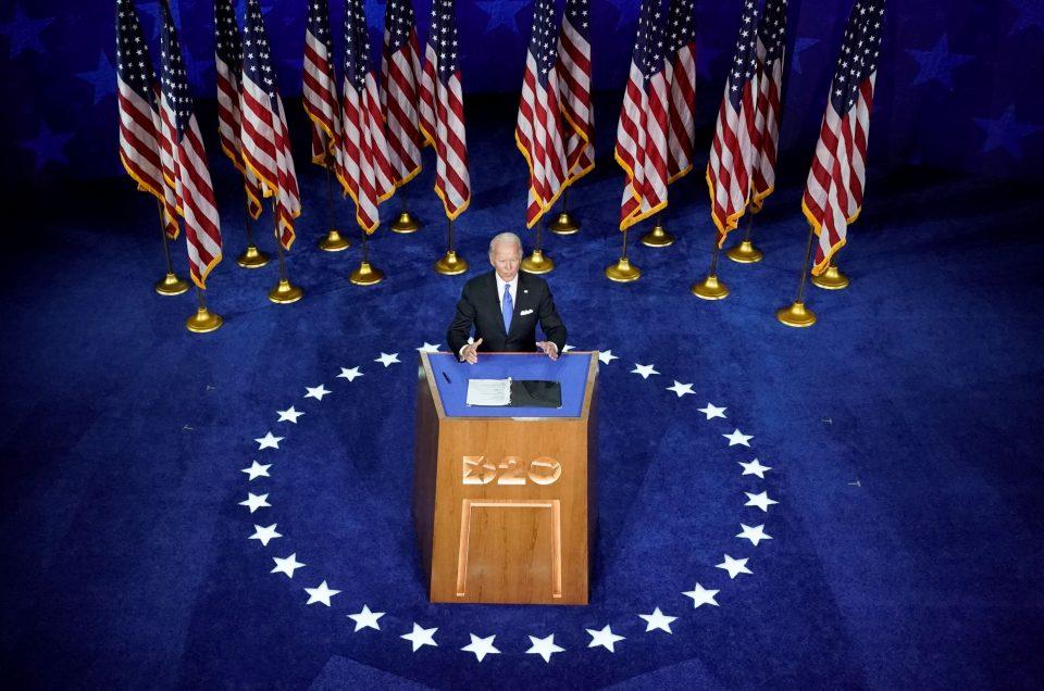 Joe Biden Accepts The Democratic Presidential Nomination In Wilmington, Delaware