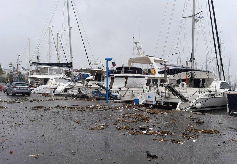 Greece Buckles Down To Prepare For Storm Zorba