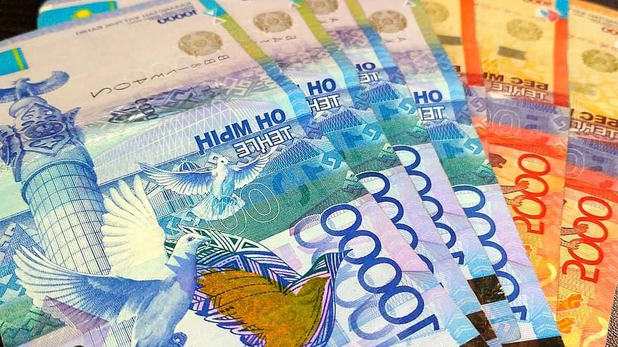 Bills Tenge Currency Money Kazakhstan Cash Purchase Payment Finances