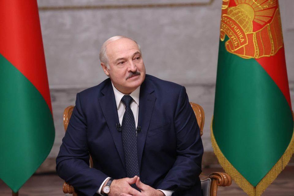 Belarusian President Alexander Lukashenko Attends An Interview With Journalists Of Russian Media In Minsk