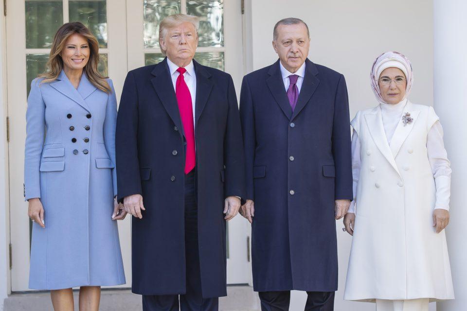 Turkish President Erdogan Visits The Us President Trump At The White House.