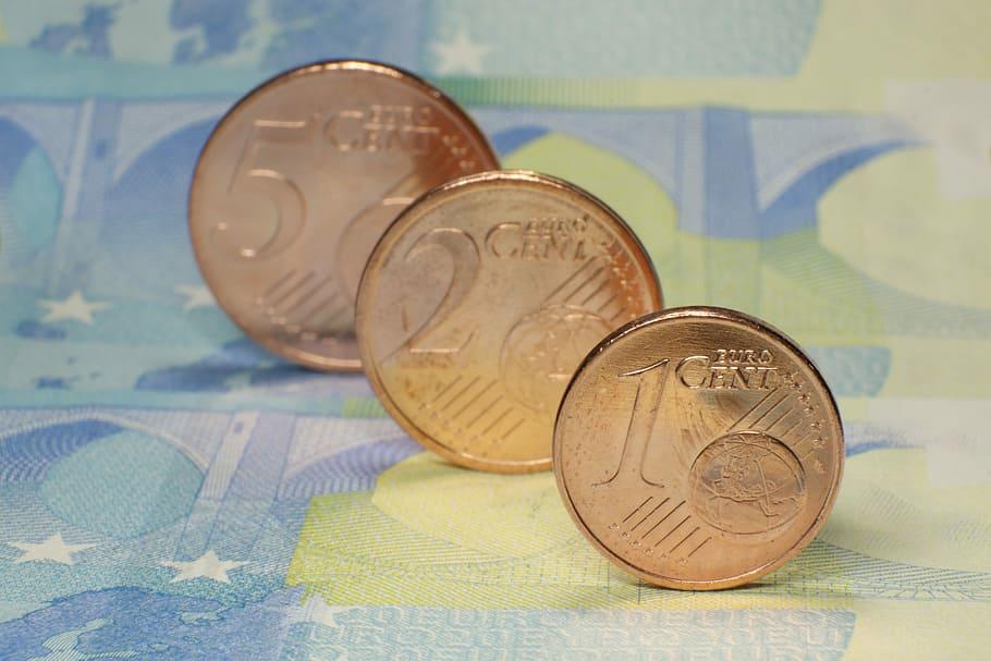Euro Cent Coins Metal Money
