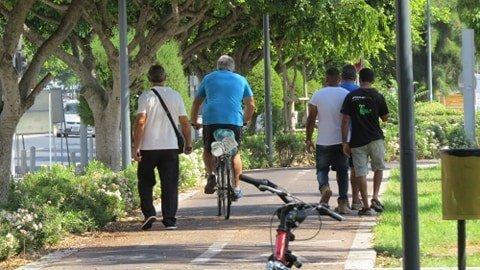 Feature Annette Main Pedestrians On The Bike Lane In Limassol