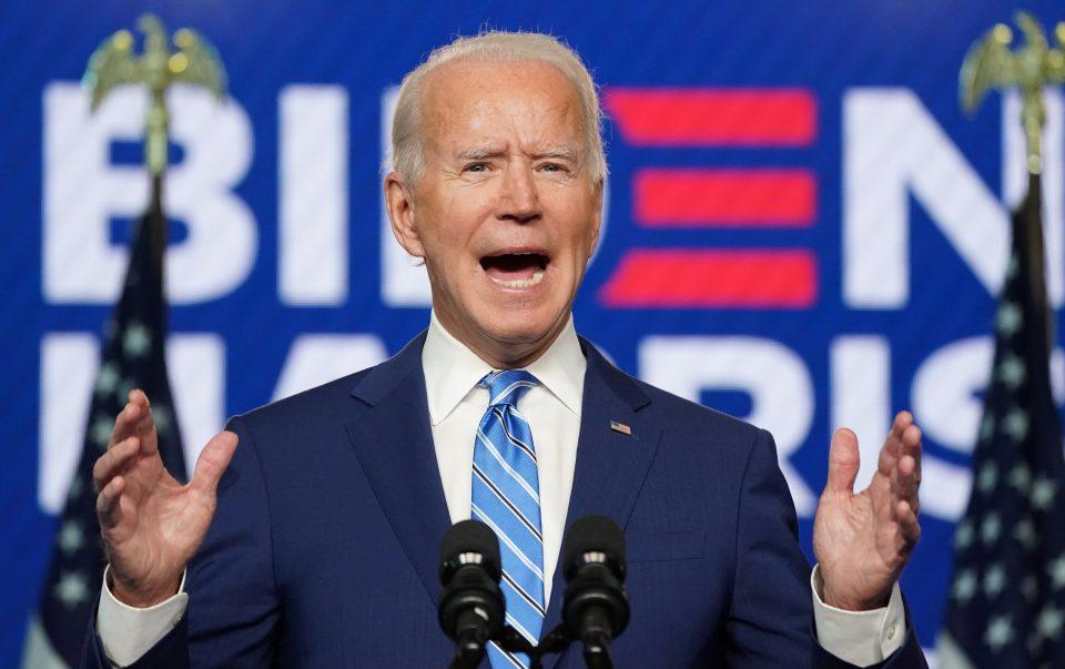 U.s. Democratic Presidential Nominee Joe Biden Speaks About 2020 U.s. Presidential Election Results Wilmington, Delaware