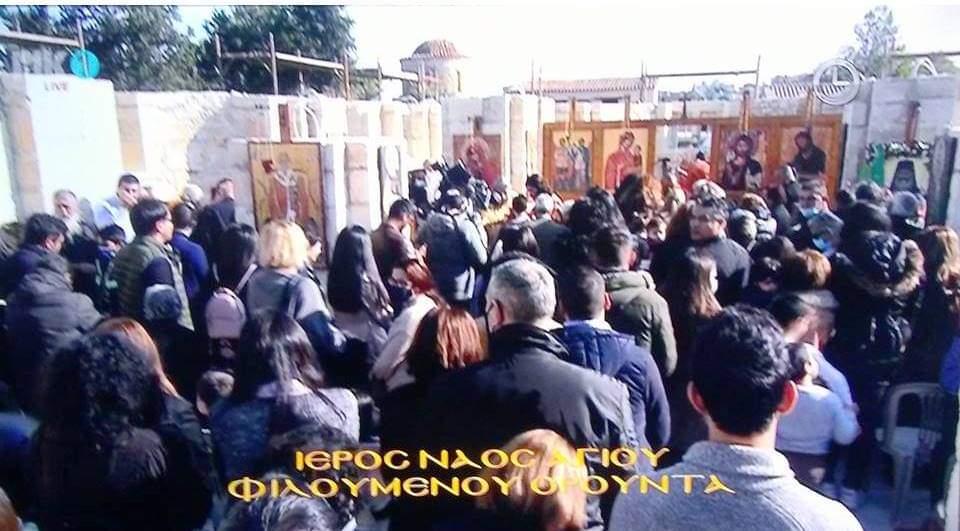 Churchgoers In Nicosia