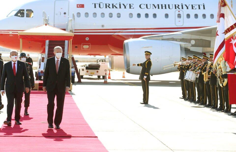 Turkish President Tayyip Erdogan Arrives In Northern Nicosia