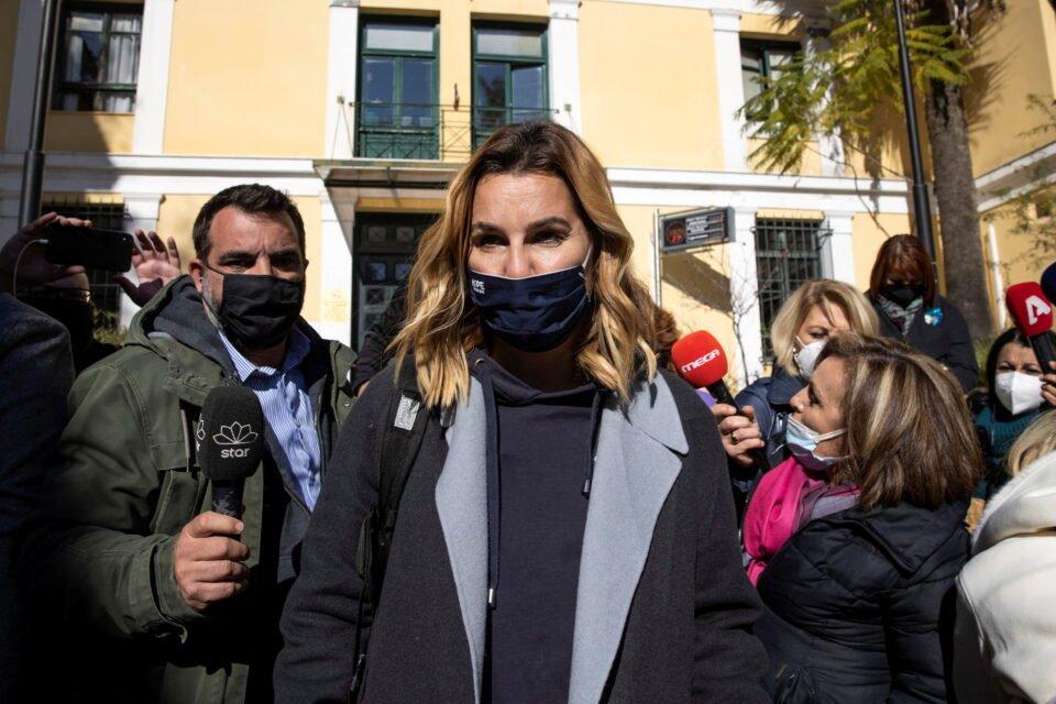 Olympic Sailing Champion Sofia Bekatorou Leaves The Prosecutor's Office In Athens
