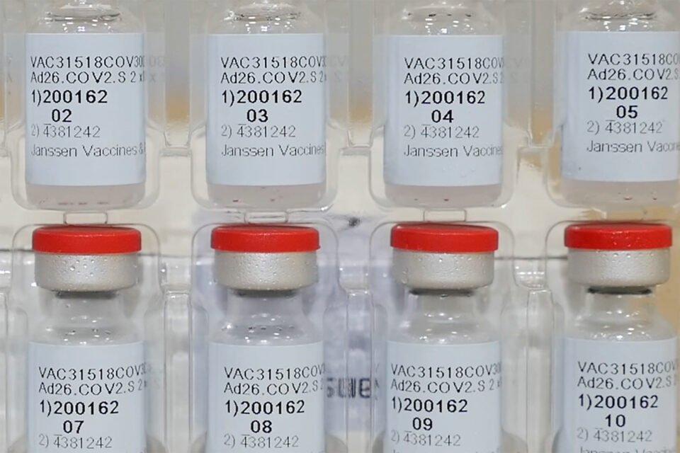 file photo: vials of johnson & johnson's janssen coronavirus disease (covid 19) vaccine candidate are seen in an undated photograph