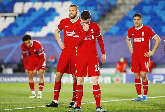 champions league quarter final first leg real madrid v liverpool