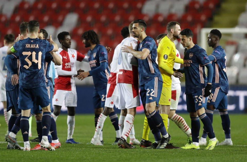 europa league quarter final second leg slavia prague v arsenal