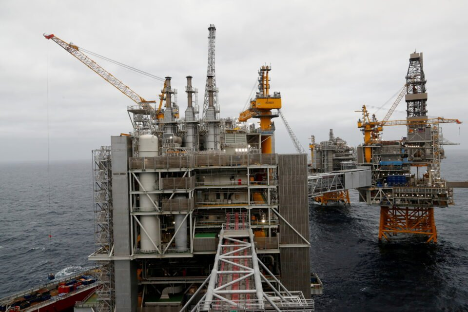 file photo: a general view of johan sverdrup oilfield platforms in the north sea