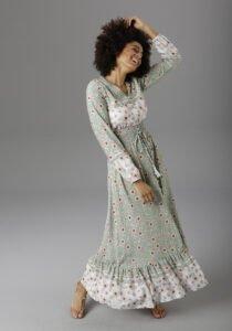 fashion3 aniston casual floral print wrap maxi dress