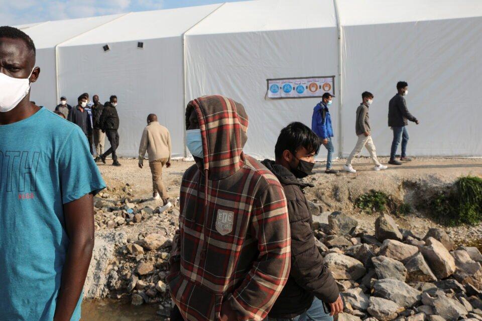 mavrovouni refugee camp on the island of lesbos