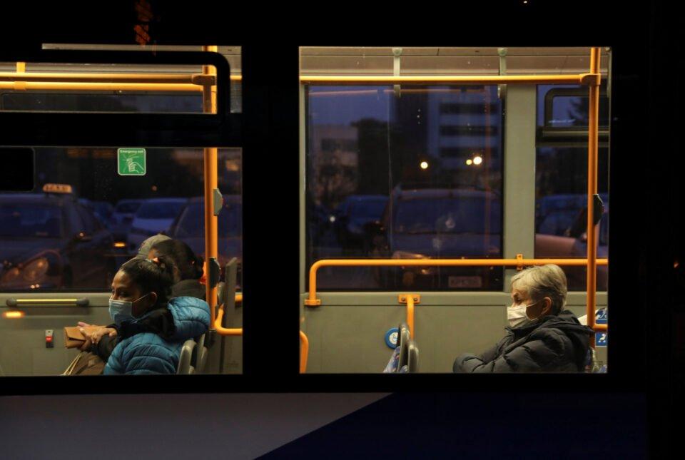 people commute on a bus amid the coronavirus disease (covid 19) pandemic in nicosia