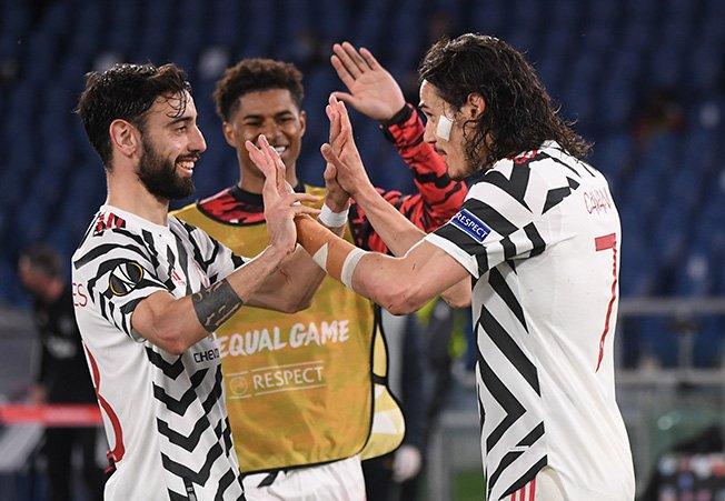 europa league semi final second leg as roma v manchester united