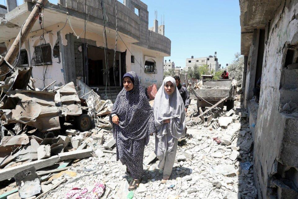 israel gaza cross border violence continues