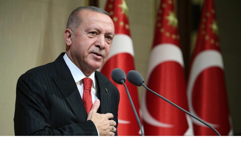 erdogan hand on heart