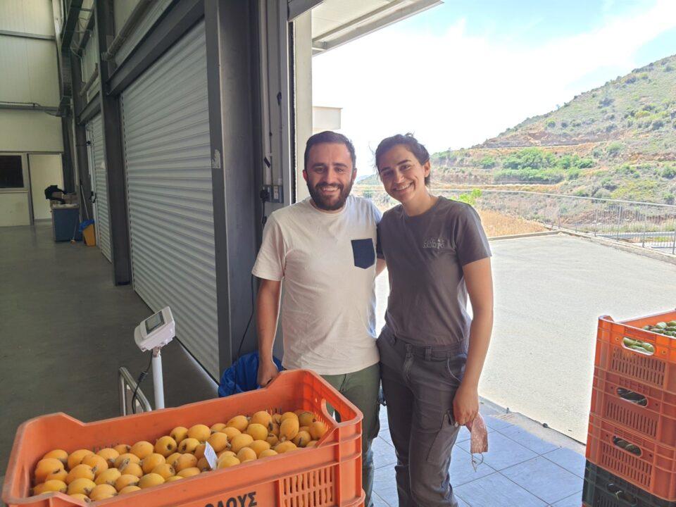 feature john antonis korniotis, the direcor of the vasiliki facility, and maria solomidou, plant manager at oros machairas