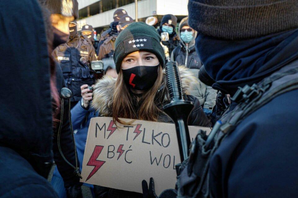 women protest on international women's day