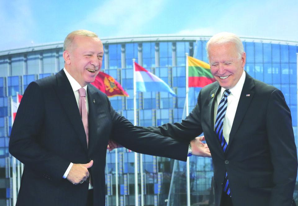 turkish president erdogan meets with u.s. president biden in brussels