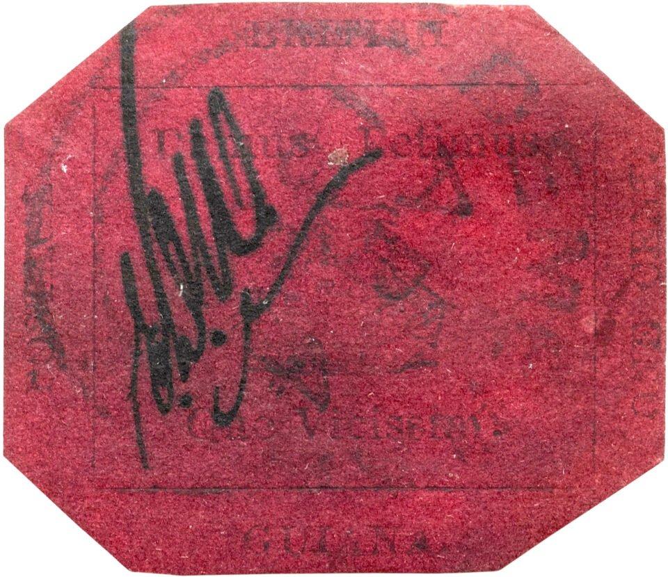 british guiana 1856 1c magenta stamp