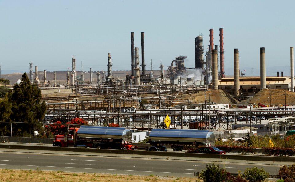 file photo: chevron corp's refinery is seen in richmond