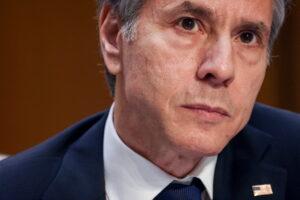 file photo: secretary of state antony blinken testifies before the senate committee on foreign relations in washington, u.s.