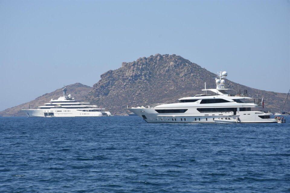 yachts off turkish coast
