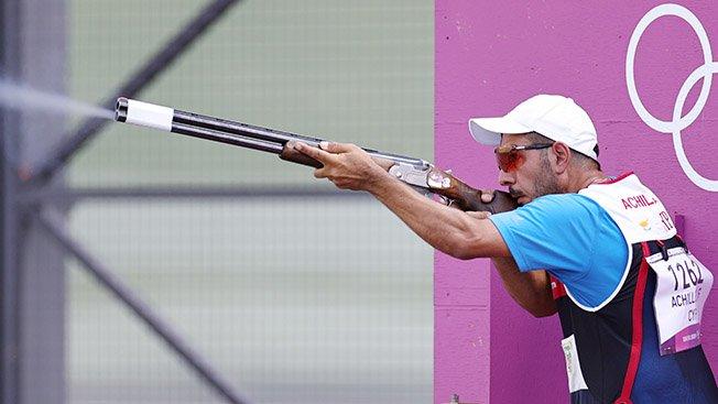 shooting men's skeet qualification day 1