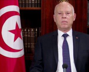 tunisian president kais saied addresses the nation in tunis
