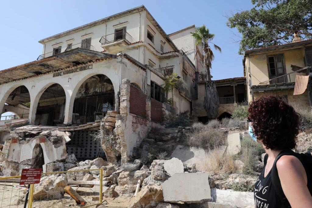 abandoned quarter of varosha in famagusta