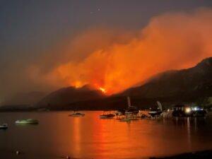 smoke billows from a wildfire near osoyoos