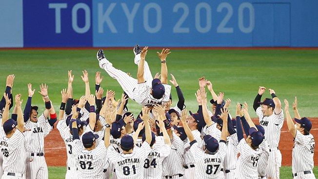 baseball men gold medal match united states v japan