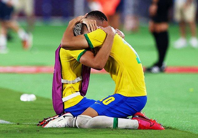 soccer football men gold medal match brazil v spain