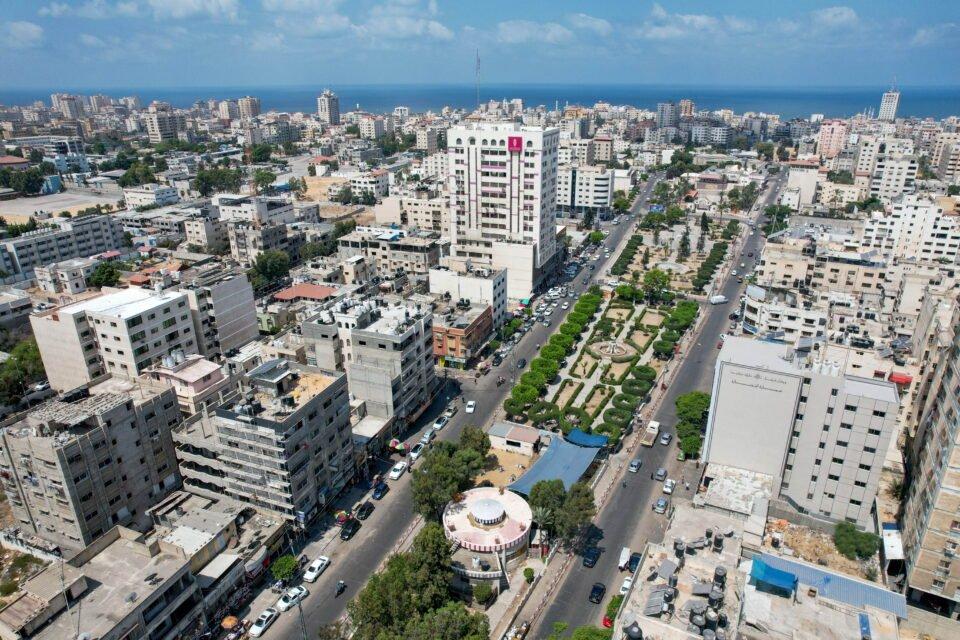 genral view shows gaza city
