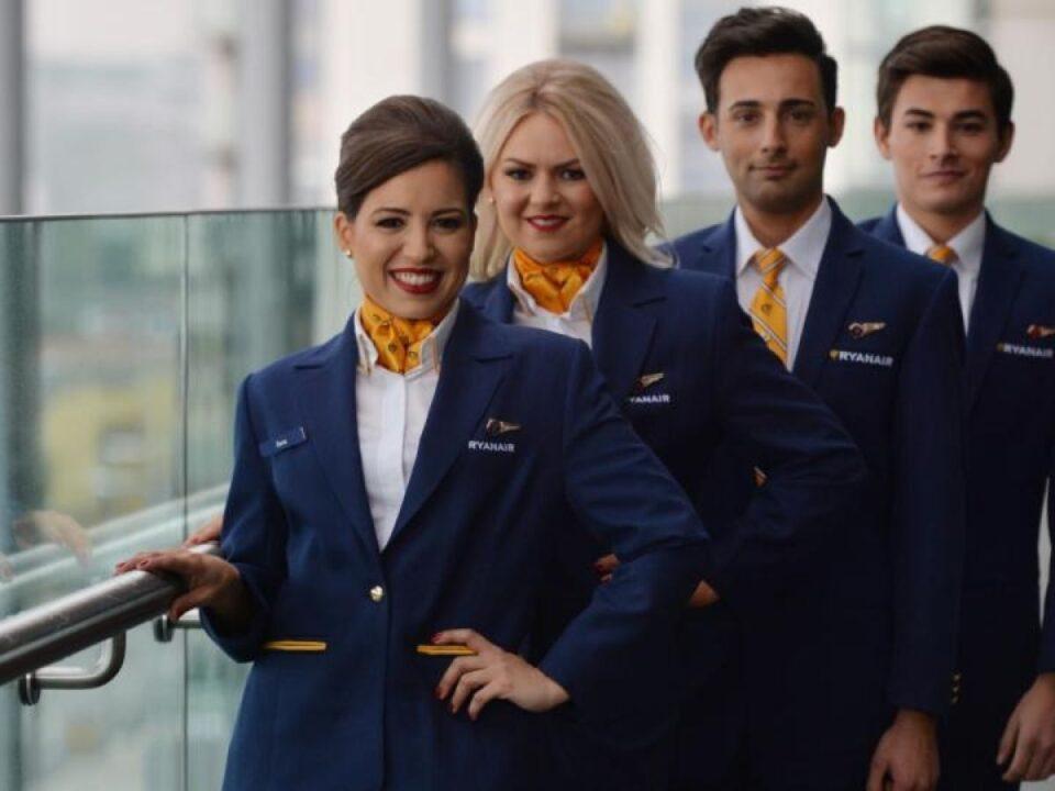 ryanair crew new uniforms