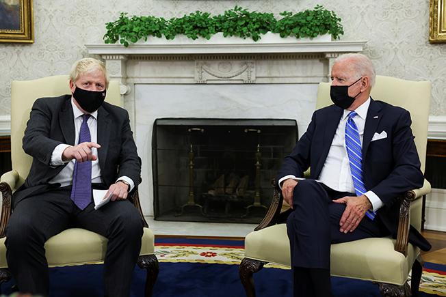 u.s. president joe biden meets with british prime minister boris johnson in washington