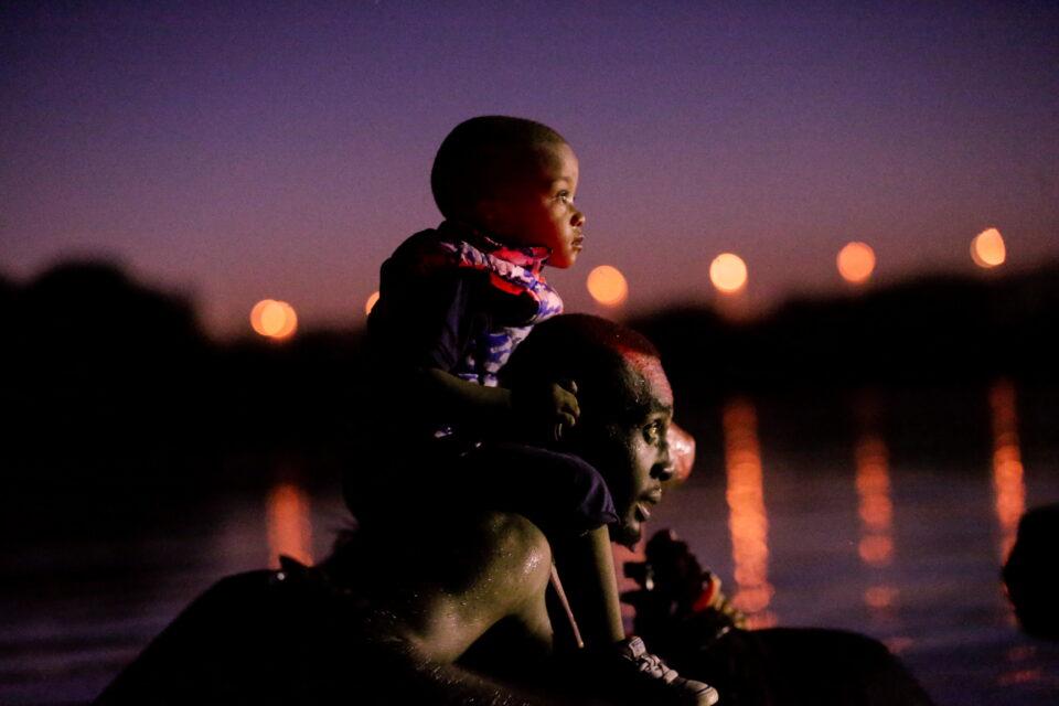 migrants seeking refuge in the u.s. cross the rio grande river, in ciudad acuna