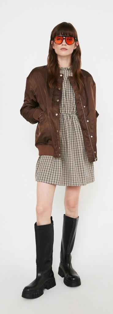 fashion3 warehouse popper front bomber jacket