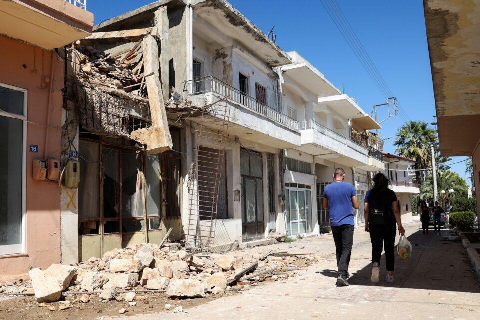 earthquake on the island of crete