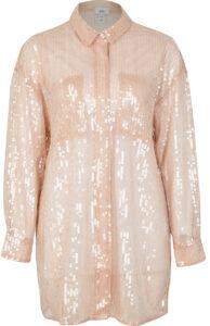 fashion3 river island beige sequined oversized shirt