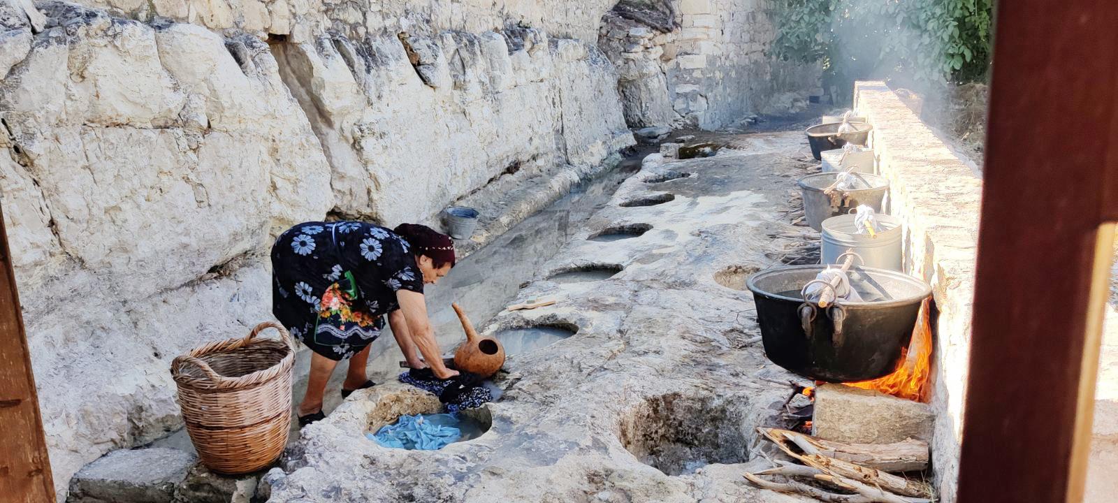 feature paul lambis a woman performs plystarkos in kritou terra